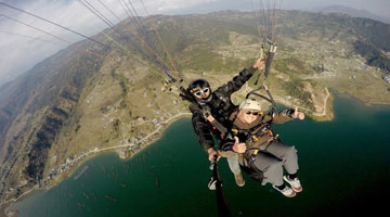 paragliding tours pokhara