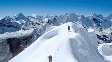 Besteigung des Island peak